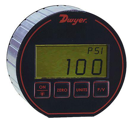 DPG-105                                              DWYER INSTRUMENTS DPG-105 Digital Pressure Gauge Bottom Entry 100psi 1/4 in Male NPT DPG-105