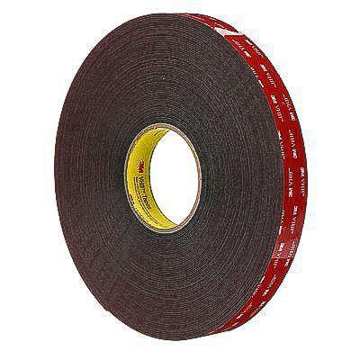 3M 5952F VHB Tape for Powder Coat; 1mm x 19mm x 33m