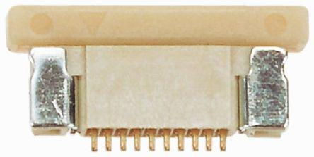 1734839-8                                              TE Connectivity FPC Series 0.5mm Pitch 8 Way Right Angle Female FPC Connector, ZIF Top Contact