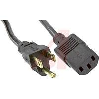 Outside 7 in.; 0.253 in. Volex Power Cords 17742 10 B1 Power Cord; 10 A; 386 A; SVT Beldfoil Shielded; 6 Ft