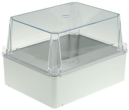 Thermoplastic IP55 Junction Box, 66 x 153 x 110mm, Grey