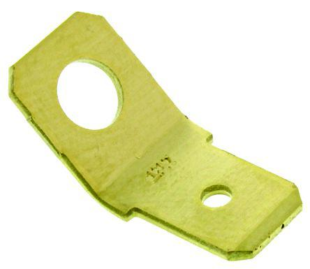 TE Connectivity FASTON .250 Series , Straight Mount Angle PCB Tab Terminal, 6.35 x 0.81mm Tin Plated