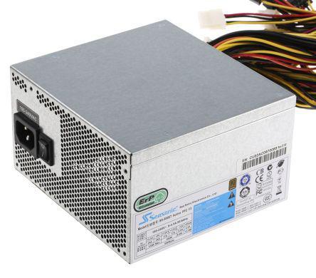 Seasonic 500W Computer PSU, 220V ac Input, 3.3 V dc, 5 V dc, ±12 V dc Output
