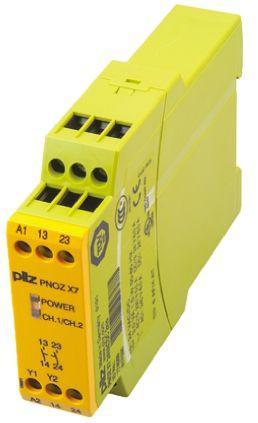 PNOZ X Safety Relay, Single Channel, 24 V ac/dc, 2 Safety