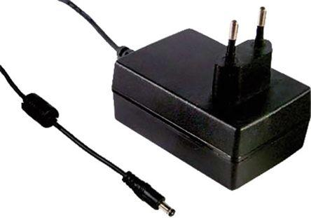 Mean Well Plug In Power Supply 12V dc, 1A Level V 1 Output, P1I Switched Mode Power Supply