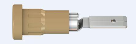 23.1015-27                                              Multi Contact Brown Female Banana Plug - Press Fit, 30 V ac, 60 V dc