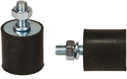 4030VE23-60                                              FIBET Cylindrical M8 Zinc Plated Steel Anti Vibration Feet 4030VE23-60 133.2kg Compression Load ,40mm dia.
