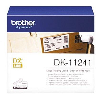 BROTHER DK11241 Black on White Label Printer Tape & Label