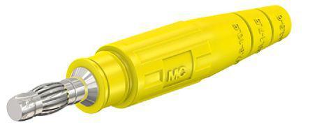 15.0019-24                                              Multi Contact Yellow Male Banana Plug - Crimp, 600V
