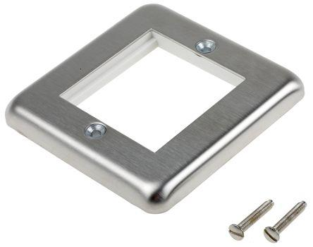 K182BSS                                              MK Electric 1 Gang Stainless Steel Faceplate