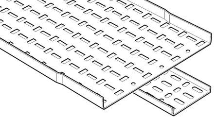SSL50S                                              Legrand Light Duty Tray Cable Tray, Stainless Steel 3m x 50 mm x 12mm