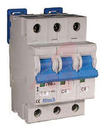 3BU6R                                              Altech 6A 3 Pole Thermal Magnetic Circuit Breaker, 480Y/277V R