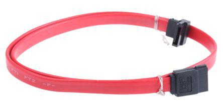 Serial Cable Assembly 500mm Male to Male, Angled 7-Pin SATA to 7-Pin SATA