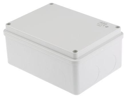 Thermoplastic IP65 Junction Box, 153 x 110 x 66mm, Grey