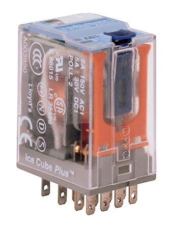 C9-A41X/024VDC                                              Turck 4PDT Non-Latching Relay Plug In, 24V dc Coil, 5 A