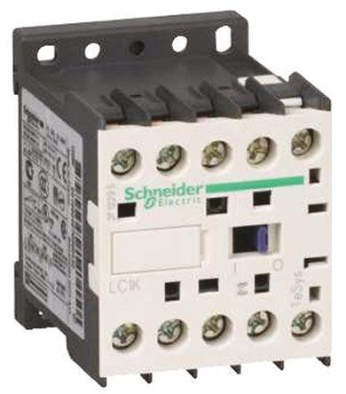 LC1K0601B72                                              Schneider Electric TeSys K LC1K 3 Pole Contactor, 3NO, NC (Auxiliary), 6 A, 3 kW, 24 V ac Coil