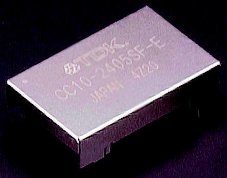 CC10-0505SF-E                                              TDK-Lambda Through Hole 10W Isolated DC-DC Converter, I/O isolation 500V ac, Vout 5V dc