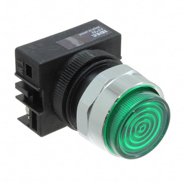 22MM 120V GREEN LED IDEC APW299D-G-120V PANEL MOUNT INDICATOR