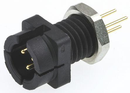 Binder 712 Series, 5 Pole Cable Mount Subminiature Connector Socket, with Male Contacts, IP67