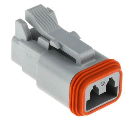 Amphenol AT Series, 2 Way Cable Mount Plug Power Connector