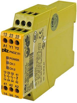 PNOZ X Safety Relay, Single Channel, 24 V ac/dc, 3 Safety, 1 Auxiliary