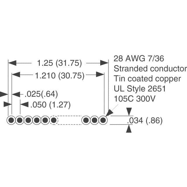 AWG28-25/G/300