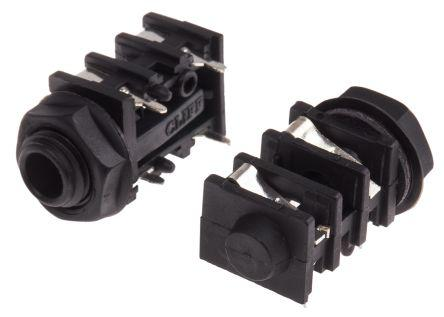 3 RS Pro 1//4 in Panel Mount Right Angle Jack Socket 5A 2 kV dc
