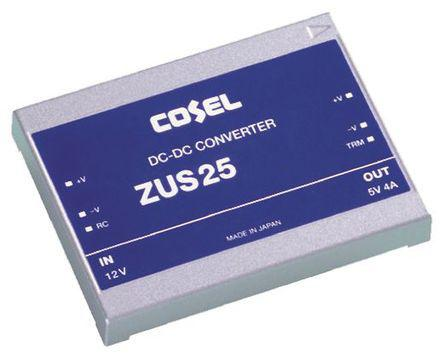 ZUS251212                                              Cosel 25.2W Isolated DC-DC Converter Through Hole, Vin 9 → 18 V dc, Vout 12V dc, I/O isolation 500V ac