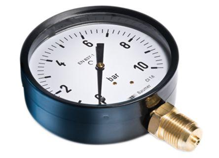 Connection Size G 1//8 Bourdon MAT1F10B22 Hydraulic Pressure Gauge 10bar