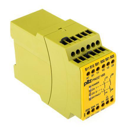 Safety Relay, Dual Channel, 24 V dc, 110 V ac, 2 Safety
