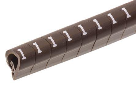 Legrand Clip On Cable Marker, Pre-printed 1 Brown 2.8 → 3.8mm Dia. Range