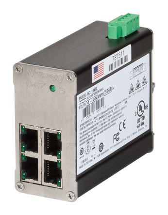 Red Lion Unmanaged Ethernet Switch for use with Control, Data Acquisition, Ethernet I/O 4 (Bi-Directional) x