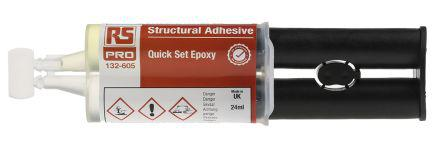 132-605                                              RS Pro 24 ml Transparent Dual Cartridge Epoxy Adhesive for Various Materials