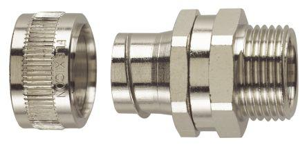 Flexicon Straight, Swivel Cable Conduit Fitting, 316 Stainless Steel Satin 20mm nominal size IP40 M20