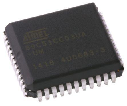 AT89C51CC03UA-SLSUM                                              Atmel AT89C51CC03UA-SLSUM, 8bit 8051 Microcontroller, 60MHz, 64 kB Flash, 44-Pin PLCC