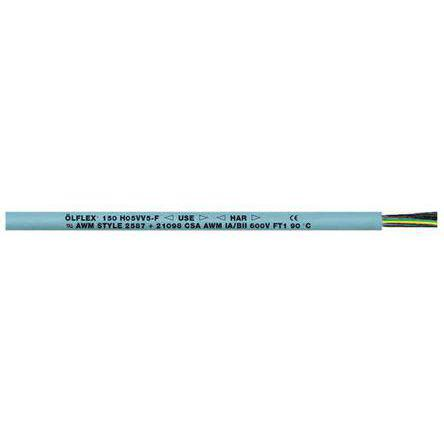 Lapp Cable Lapp Olflex Classic 110 5 Core YY Control Cable, 1 mm², 100m, Unscreened