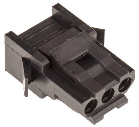 192923-6010/TST03RA00                                              ITT Cannon Trident Female Connector Housing, 5.08mm Pitch, 3 Way, 1 Row
