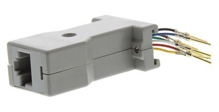 Rotronic 9 Way D-sub Male, RJ45 Female Adapter