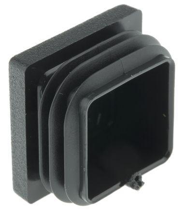 90402-5                                              Rose+Krieger Black PE Square Tube Plug, 30 mm strut profile