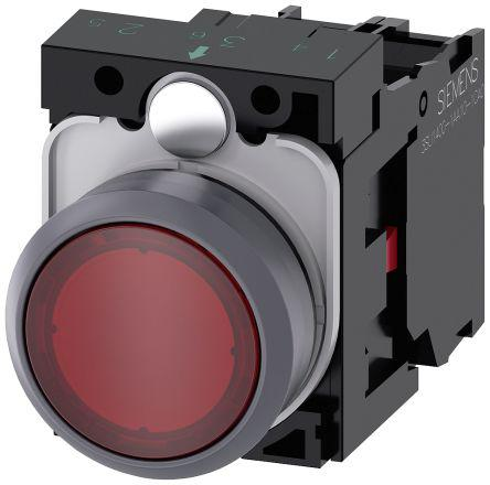 3SU1133-0AB20-1CA0                                              SIRIUS ACT Illuminated Red Flat Push Button Complete Unit Momentary Screw