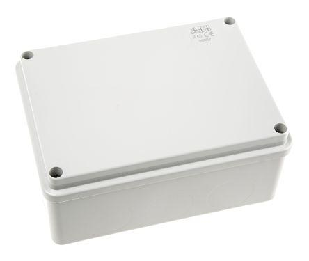 Thermoplastic IP65 Junction Box, 153 x 110 x 66mm, Grey