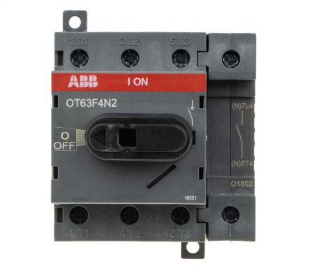 3 Pole DIN Rail Non Fused Isolator Switch, 16 A, 7.5 kW, IP20