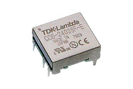 CC-6-1212DR-E                                              TDK-Lambda CC-E 6W Isolated DC-DC Converter, Voltage in 4.5, 9 V dc, Voltage out 12V dc