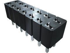 Amphenol TMM Series 1.27 mm, 2.54 mm Pitch 10 Way 2 Row Straight PCB Socket, Through Hole, Solder Termination