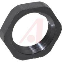 Locknut, Skintop; 1/2 in.; NPT; Nylon; Black; 0.236 in.