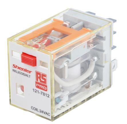 Carlo Gavazzi 4PDT Non-Latching Relay Plug In, 24V ac Coil, 5 A