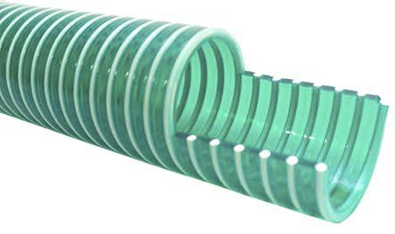 917-4986                                              RS Pro PVC 10m Long Green Flexible Ducting Reinforced, 114mm Bend Radius , Applications Various