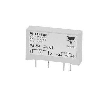 Carlo Gavazzi 5 A Solid State Relay, Zero Crossing, PCB Mount, 530 V ac Maximum Load