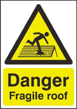 Danger Sign with English Text PP, 400 x 300mm Hazard Warning