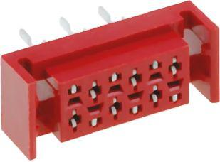 Amphenol TMM Series 1.27 mm, 2.54 mm Pitch 8 Way 2 Row Straight PCB Socket, Through Hole, Solder Termination